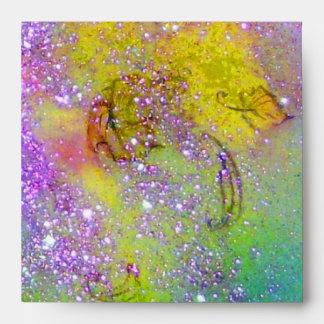 JARDÍN del amarillo verde púrpura de las SOMBRAS P
