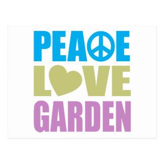 Jardín del amor de la paz postal