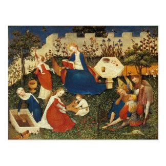 Jardín del artista medieval de Eden Postales