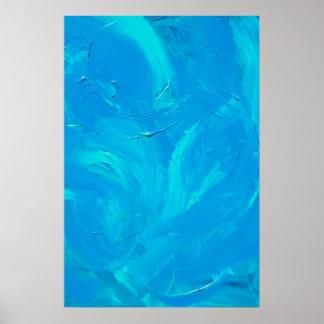 Jardín del azul poster