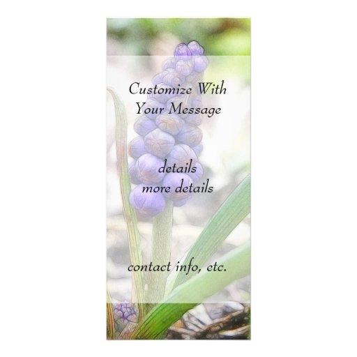 Jardín del bulbo - jacinto de uva tarjeta publicitaria