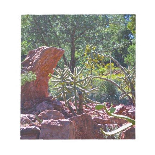 Jardín del cactus blocs de notas