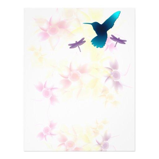 Jardín del colibrí membretes personalizados
