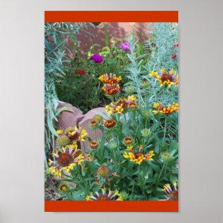 Jardín del color poster