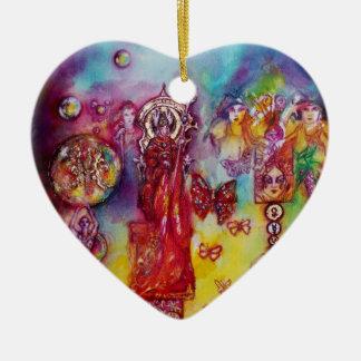 JARDÍN del corazón PERDIDO de la PLANTA de Adorno Navideño De Cerámica En Forma De Corazón
