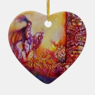 JARDÍN del corazón PERDIDO de las SOMBRAS Adorno Navideño De Cerámica En Forma De Corazón
