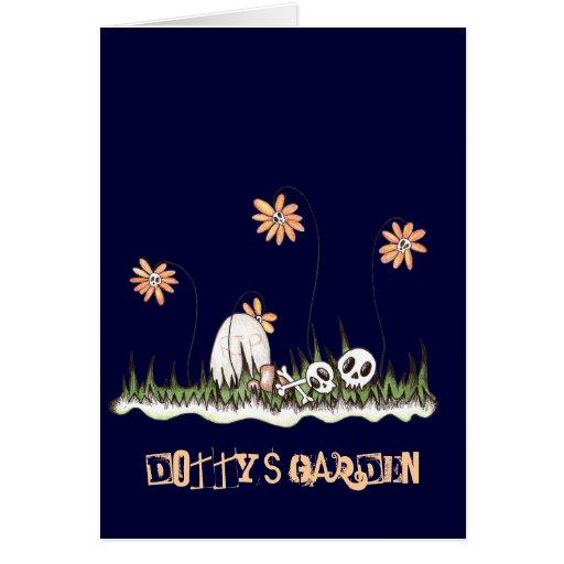 Jardín del cráneo tarjeta de felicitación