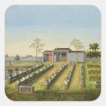Jardín del cuarto de niños, c.1820-40 (w/c en el pegatina cuadrada
