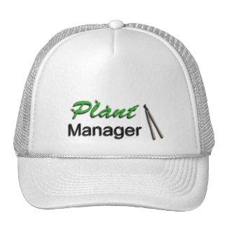 Jardín del director de planta gorras