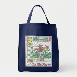 Jardín del espantapájaros del girasol bolsa de mano