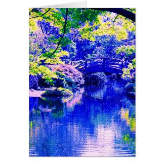 jardín del estilo japonés tarjeta de felicitación