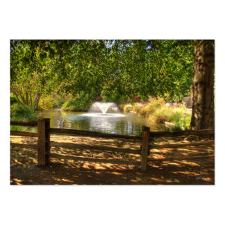 Jardín del fuerte de Sutter Tarjetas De Visita Grandes
