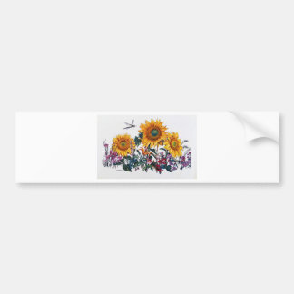 Jardín del girasol etiqueta de parachoque