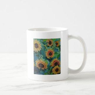 Jardín del girasol taza de café