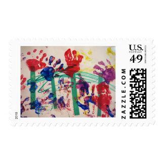 Jardín del handprint de los niños sellos