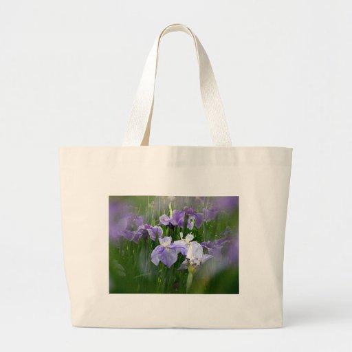 Jardín del iris bolsa tela grande