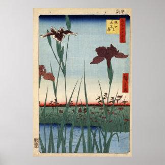 Jardín del iris de Horikiri (堀切の花菖蒲) Póster