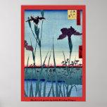 Jardín del iris de Horikiri por Andō, Hiroshige Uk Poster