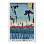 Jardín del iris de Horikiri por Andō, Hiroshige Uk Impresiones