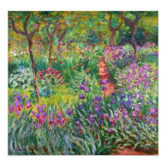 Jardín del iris de Monet en la impresión de la fot Fotografía