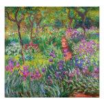 Jardín del iris de Monet en la impresión de la fot Fotografia