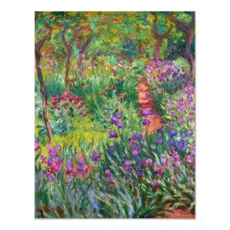 """Jardín del iris de Monet en las invitaciones de Invitación 4.25"""" X 5.5"""""""