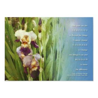 """Jardín del iris del rezo de la serenidad invitación 4.5"""" x 6.25"""""""