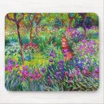 Jardín del iris en Giverny Mousepad Tapete De Raton
