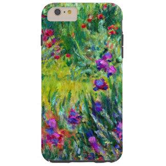 Jardín del iris en la bella arte de Giverny Monet Funda Resistente iPhone 6 Plus