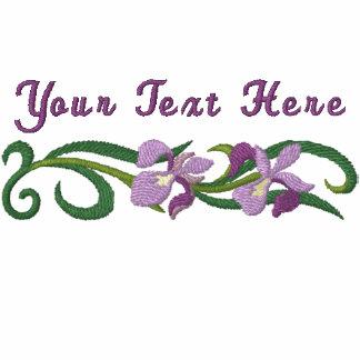 Jardín del iris sudadera bordada con serigrafía