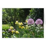 Jardín del iris tarjeta de felicitación
