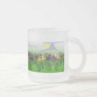 Jardín del iris taza de café