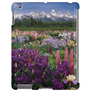 Jardín del iris y del Lupine y gama de Teton, Funda Para iPad