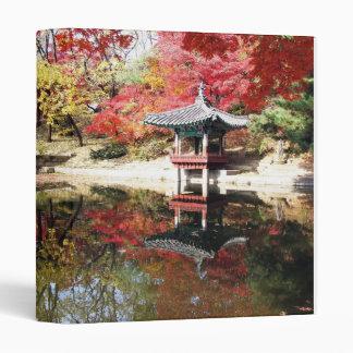 Jardín del japonés del otoño de Seul