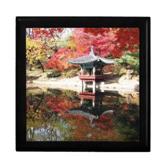 Jardín del japonés del otoño de Seul Caja De Joyas