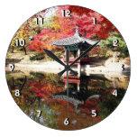 Jardín del japonés del otoño de Seul Reloj