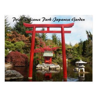 Jardín del japonés del parque del desafío del tarjeta postal