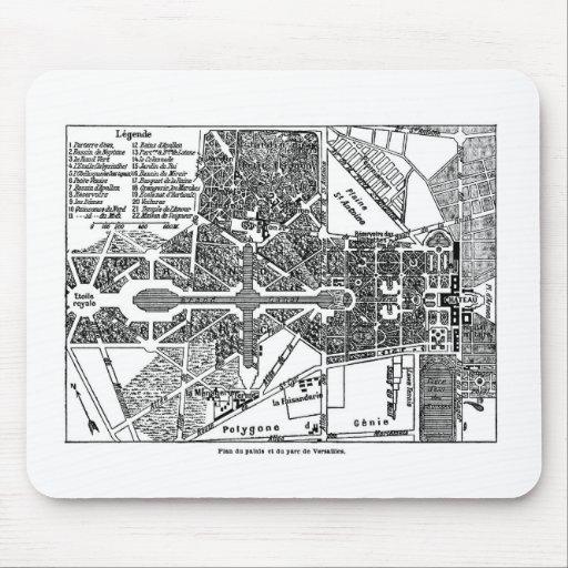 Jardín del mapa de Versalles Alfombrilla De Ratón