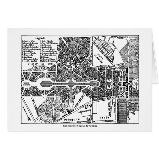 Jardín del mapa de Versalles Felicitacion