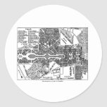 Jardín del mapa de Versalles Pegatinas Redondas