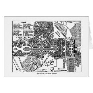 Jardín del mapa de Versalles Tarjeta De Felicitación