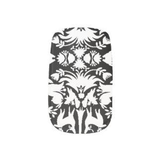 Jardín del negro de Eden y de sus clavos de la moz Stickers Para Uñas
