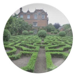 Jardín del nudo en viejo Moseley Pasillo Platos Para Fiestas