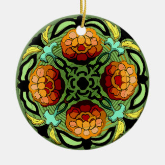 Jardín del otoño del artesano (tirón de adorno redondo de cerámica