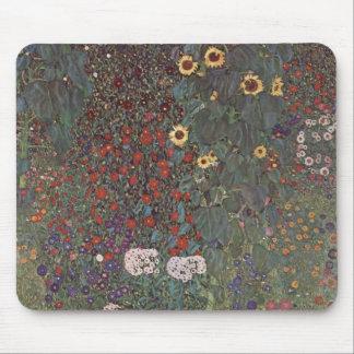Jardín del país de Gustavo Klimt- con los girasole Alfombrillas De Raton