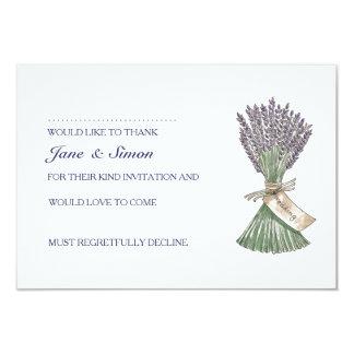 Jardín del país de la lavanda que casa la tarjeta invitación 8,9 x 12,7 cm