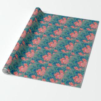 Jardín del papel de embalaje del arte del fractal