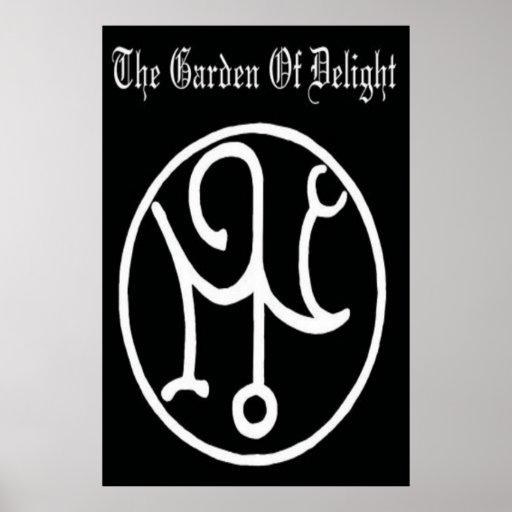 Jardín del placer - poster del logotipo