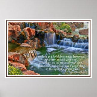 Jardín del poster de la fe de los proverbios 3 de