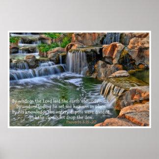 Jardín del poster del estímulo de los proverbios 3